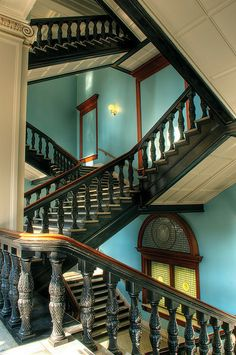 Staircase, US Custom House, Pearl District, Portland, Oregon