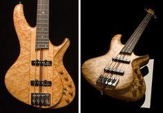 """* LITTLE guitar works ~ """"Torzal Standard""""  Bass shown - Notice twisted neck ... ~ Here is the website link > http://littleguitarworks.com/"""