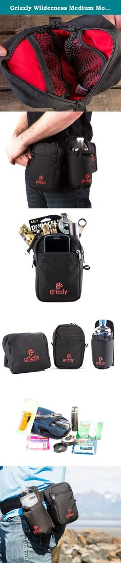 """Grizzly Wilderness Medium Modular Gear Bag, Black, for Dog Walkers, Hikers, Walkers, Birders, for Belts, Backpacks, Gear Bags, Camera Bags, Travel Bags, Hunting Bags, Fishing Bags, Canoeing Bags and All Outdoor Activities. """"Wild Grizzly Goes Where You Have To Go."""" Wild Grizzly Outdoor Adventure and Travel Equipment Protective Carrying Systems Grizzly Tough, Grizzly Reliable, Grizzly Inventive Home of the GrabberTM Grizzly's versatile Wilderness Utility Bag has been built Grizzly ToughTM…"""