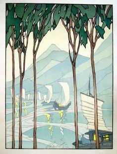 Bertha Lum ~ Inland Sea, 1922