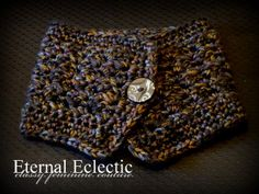 Neckscarf Neckwarmer Scarf in black charcoal by eternaleclectic, $30.00