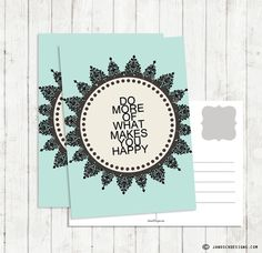 5 St. Grusskarten *Do more of what makes...* von Papierbox by JanoschDesigns auf DaWanda.com