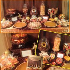 Consider the amount of folks lifestyle in your house when decorating. Happy Thanksgiving Day, Thanksgiving Parties, Thanksgiving Table, Thanksgiving Decorations, Thanksgiving Activities, Fall Table, Fall Decorations, Holiday Decor, Dessert Buffet Table