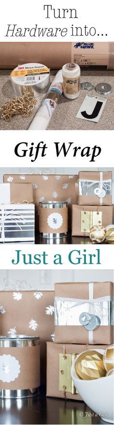 Hardware store gift wrap ideas