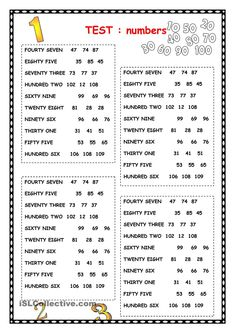 NUMBERS worksheet – Free ESL printable worksheets made by teachers – Grammar Learning English For Kids, English Lessons For Kids, English Worksheets For Kids, Kids Math Worksheets, Kids English, Number Worksheets, English Language Learning, Printable Worksheets, Teaching English