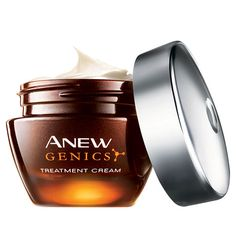 Some women never seem to age…maybe it's in their genes. Avon has discovered you have a youth gene too, so you can be one of those women. Now ANY woman can look up to ten years younger* with ANEW Genics & our patented YouthGen Technology.    Inspired by the discovery that everyone has a Youth Gene, our Genics formula is designed to stimulate your Youth Gene's activity,** which slows down with age. Now you can undo up to 10 years from the look of your skin.