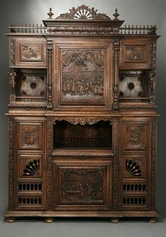 A French oak buffet a deux corps Brittany - Sold $4,500