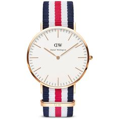 Daniel Wellington Classic Canterbury Watch, 40mm ($195) ❤ liked on Polyvore featuring men's fashion, men's jewelry, men's watches, watches, jewelry, rose gold and mens rose gold watches