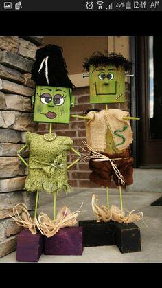 Wood Frankenstein front porch