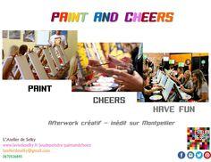 Paint. Cheers. Have fun.  Tel est le principe des soirées Paint and Cheers
