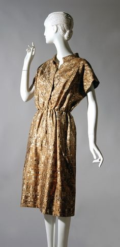Woman's Dress  Designed by James Galanos, American, born 1924. Sold by Nan Duskin, Philadelphia, 1926 - 1994.  Geography: Made in United States, North and Central America Date: 1950s Medium: Printed silk