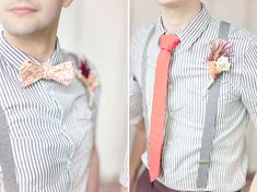 2014 Wedding Trends | Styled Grooms | Bow-tie + Boutonniere | Pink Wedding Inspiration
