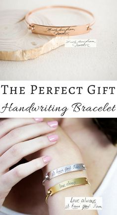 I love this idea! Would be so special after losing a family member. Custom Actual Handwriting Jewelry • Handwriting Bangle • Engrave Signature Bracelet • Sentimental Gift • Mother Gift • VALENTINE GIFT #ad