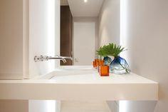 Residential Interior Design Portfolio by Miami Interior Design Firm Interior Wall Colors, Bathroom Interior Design, Residential Interior Design, Interior Design Services, Modern Powder Rooms, Hgtv, House Design, Linear Drain, Miami