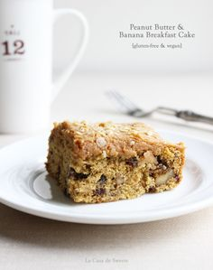 Gluten Free Peanut Butter & Banana Breakfast Cake Recipe plus 24 more gluten free oat flour recipes