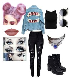 """""""grunge or pastel goth"""" by rebel-redemption on Polyvore featuring Zara, Miss Selfridge, women's clothing, women's fashion, women, female, woman, misses and juniors"""