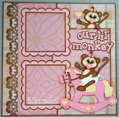 Premade Scrapbook Page Layout Paper Piecing by bljgravesstudio, $18.99
