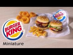 Burger King Inspired Miniatures - Polymer Clay Tutorial - YouTube