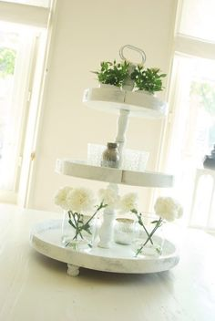 Love this white tiered tray...