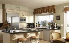 Elegant curtains for integral kitchen - Cortinas elegantes para cocinas integrales