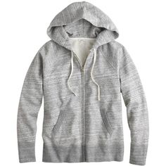 J.Crew Weekend Zip Hoodie ($105) ❤ liked on Polyvore featuring tops, hoodies, buzos, outerwear, slim fit hoodie, j crew hoodie, zipper hoodies, slim fit hoodies and evening tops