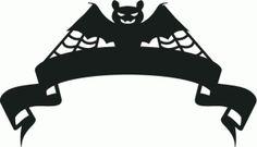 halloween bat ribbon banner
