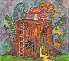 Finished! ✏ #johannabasford  #myart #sarart #forestaencantada #drawing #dream #livehappy #night #coloringbook #coloring #love #enchantedforest #paint #paiting @jardimsecretofans @jardimsecretoinspire @jardimsecretotop @inspiracaojaedimsecreto