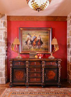 10 Rustic Country Home Decor Ideas Southwest Decor, Southwestern Decorating, Western Furniture, Rustic Furniture, Furniture Ideas, Westerns, Ranch Decor, Equestrian Decor, Western Homes