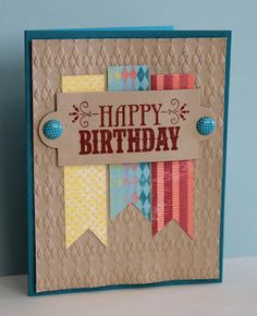 You're Amazing using Stampin' Up! Happy Birthday greeting from You're Amazing stamp set.