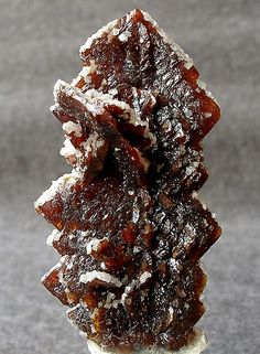 Descloizite crystals w/ Calcite coating | Namibia / Mineral Friends <3