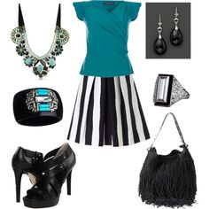 Turquoise & onyx..., created by rkimball on Polyvore