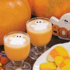 Boo Beverage Allrecipes.com - TRY DIFFERENT COLORS AND DIFFERENT DECORATIONS ON TOP