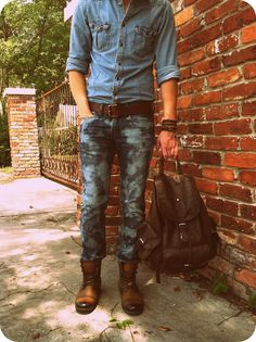 Wobisobi: Bleached Jeans DIY.