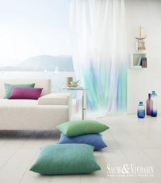 KEANU de Saum: Degradado de color. / Degradat de color. #visillo #cortina #ontario #fabrics #emotion #collection