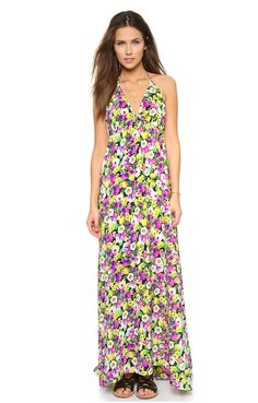 Yumi Kim Summer Sasha Silk Flower Print Maxi Dress