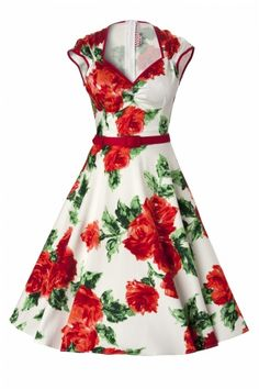 Pinup Couture - TopVintage exclusive ~ Heidi dresses vintage Red Rose