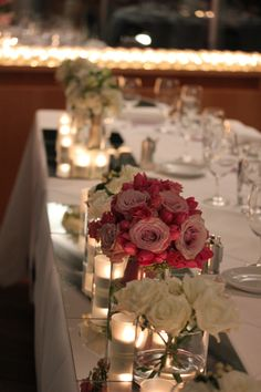 Bridal table featuring the brides bouquet at the fabulous Catalina
