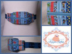 Little pirates on blue insulin pump belt with by KaijaSofia