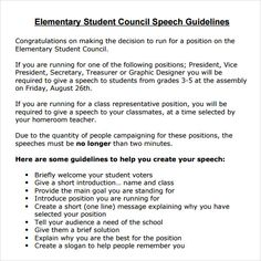 studentcouncilspeachexamples  google search  school projects  student council speech middle school examples of argumentative essays this  sample student council speech was written was running for student council
