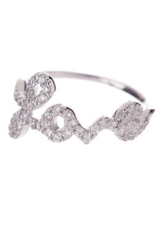 """Sterling Silver """"Love"""" Ring Band - I love it!!!"""