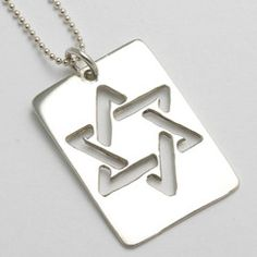 Sterling Silver Star Of David Dog Tag Necklace - Jewish Bar Mitzvah GIft Silver Necklaces, Silver Jewelry, Silver Ring, Silver Earrings, Silver Cuff, Gold Jewellery, Diamond Jewelry, Jewlery, Star Of David Pendant