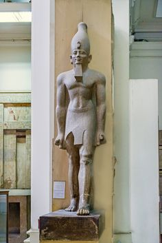 https://flic.kr/p/GeV9Cx | Egyptian Museum Cairo | Colossus of King Senwosret I (Sesostris I) Middle Kingdom, Dynasty 12 Karnak JE 38286