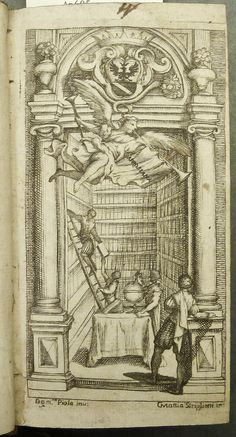 Engraving of a scene in library by G.M. Striglioni after Domenico Piola Established heading: Striglioni, Gio Mattia, 1628-1685 Established heading: Piola, Domenico, 1627-1703 Penn Libraries call number: IC65 Ap695 673b All images from this book