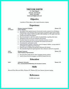 Claims Adjuster Resume Skills Are Needed Of Course In Every Job But For Claim Adjuster