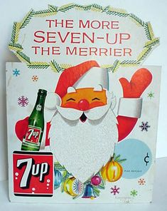 Vintage Christmas 7Up Ad