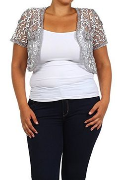 84182e23f4dc5 Gold  29 free ship Womens Plus Size Shrug Short Sleeve Sheer Dressy Holiday  Cropped