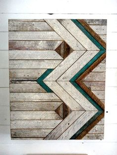 Reclaimed Wood Chevron Pattern::