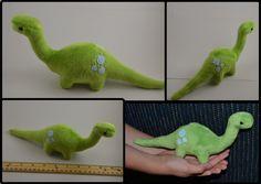 Plush Dinosaur by Mlggirl.deviantart.com on @DeviantArt  Made with a sewing pattern from www.beezeeart.com