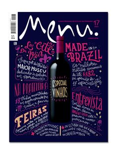 Cover design to Menu Magazine - Wine Special June/2016 issue. Editora Três.