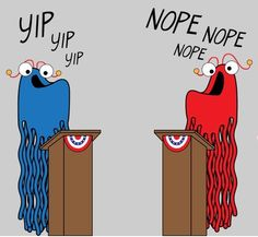 Politics via Sesame Street  This is all I see and hear....